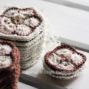 crochet african flower square