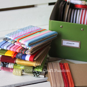 ribbons storage organizer