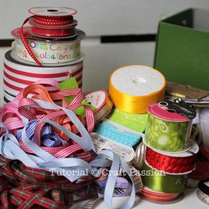 ribbon storage organizer diy 2