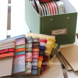 ribbon storage organizer diy 9