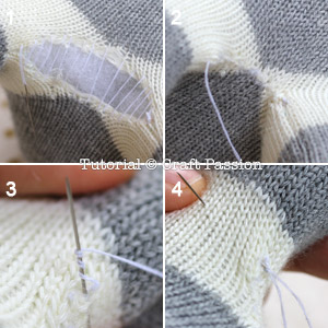 how to sew opening on sock