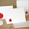 apple shaped stamped cards