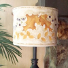 fall leaves painting lampshade