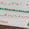 holiday stencil placemat