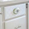 monogram a drawer