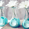 paint dipped bud vases