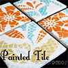 painted ceramic tile