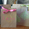 paperbag decoration DIY paint projects