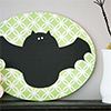 stanciled bat silhouette DIY paint projects