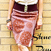 stenciled pencil skirt