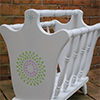 thrift store magazine rack stencil