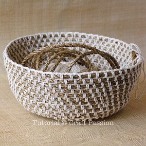 crochet manila rope basket 10