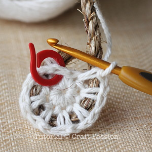 crochet manila rope basket 7