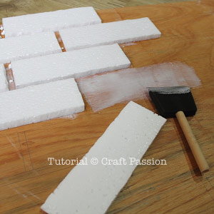 make faux brick wall panel