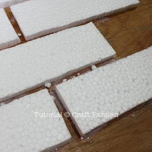 gluing styrofoam