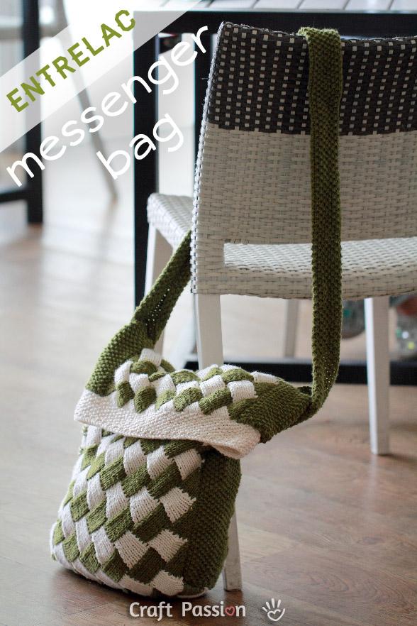entrelac knit bag 1