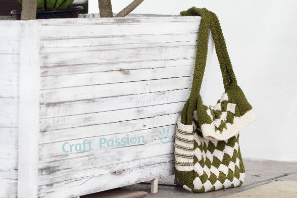 entrelac knit bag 5