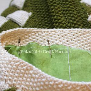 knit entrelac bag lining 20