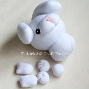 sew bunny body