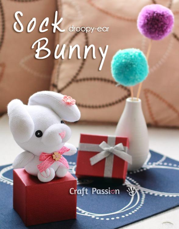 sock bunny droop ear 6