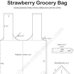 strawberry grocery bag pattern