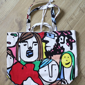 ikea fabric reversible jumbo tote bag