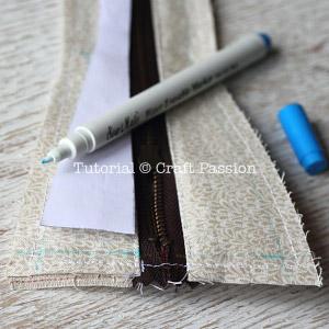 sew zipper pencil case 11