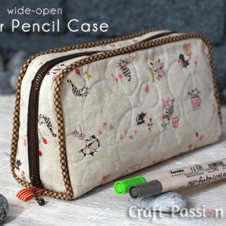 Zipper Pencil Case Sewing Pattern