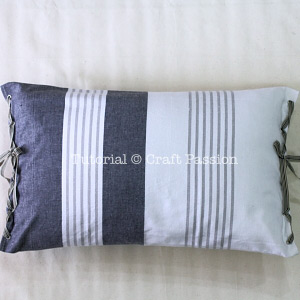 No-Sew Tea Towel Pillow