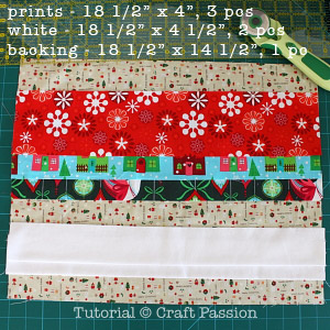 fabric to sew holiday placemat