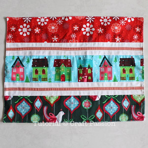 sew holiday christmas placemats coasters