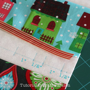 sew placemat with cutlery holder