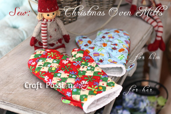 Quilted Patchwork Oven Mitt