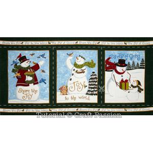moda snowman panel