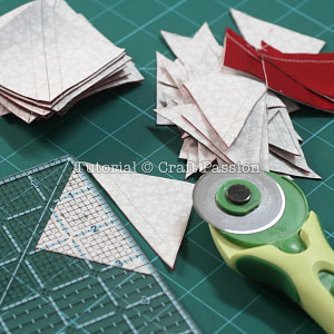 how to turn 2 triangles and a into a square