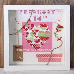 valentine scrapebook