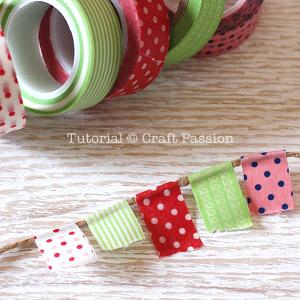 washi tape garland 1