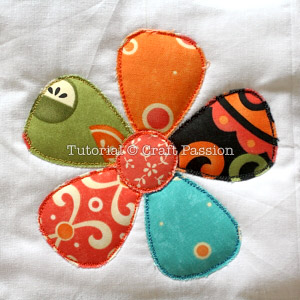 stitched raw edge applique