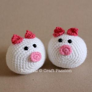 piggy bun amigurumi crochet pattern
