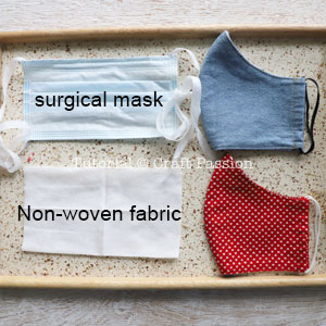 U Ok Hun Printed Canvas Fabric A4 Hair Bow Making Fabric Material Word