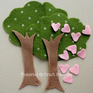 felt tree materials