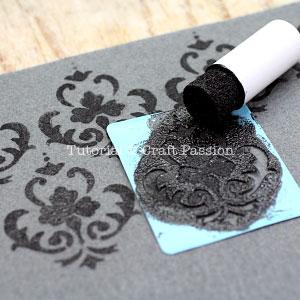 stencil print on felt