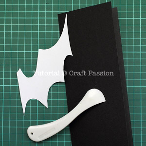 fold black card stock