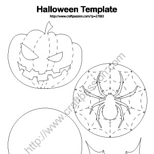 Halloween theme coasters free pattern craft passion for Coaster size template