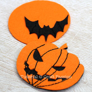 make halloween felt coasters