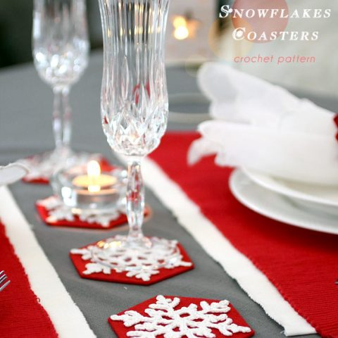 Snowflakes Coasters Crochet Pattern