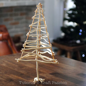 make a twiggy christmas tree