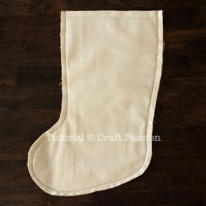 sew burlap stocking 4