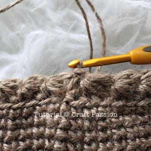 crochet star stitch in round