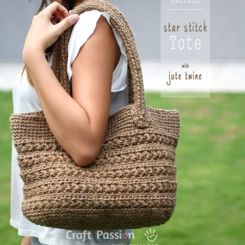 Crochet Star Stitch Tote Pattern